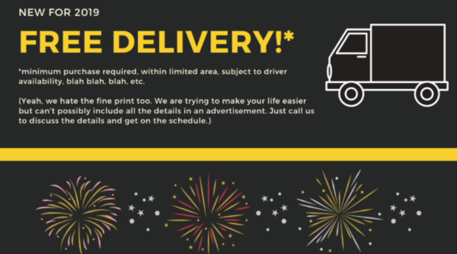 Big news! Free delivery!*